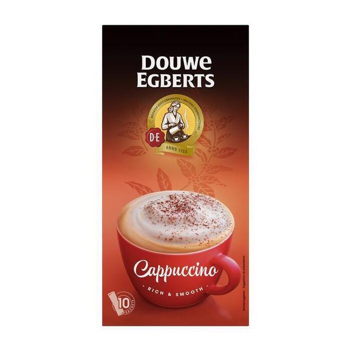 Douwe Egberts Verwenkoffie Cappuccino Oploskoffie 10 Stuks (Stuk, 10 × 12.5g)