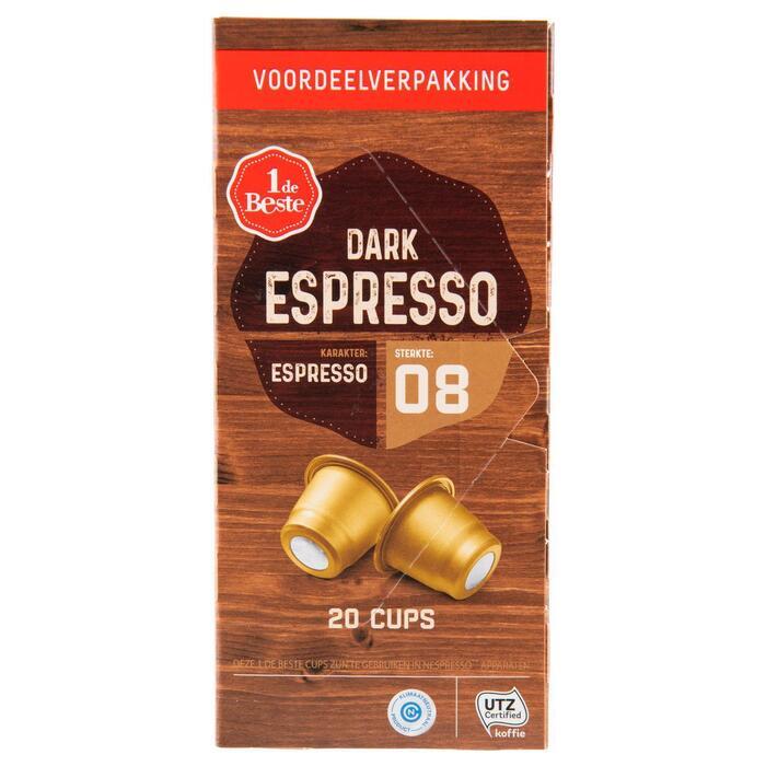 Koffiecups mainstream dark espresso sterkte 8