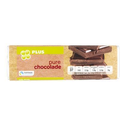Chocoladereep puur fairtrade (100g)