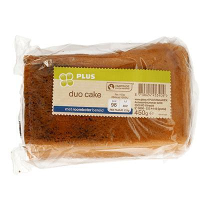 Duo cake roomboter Fairtrade (blister, 450g)