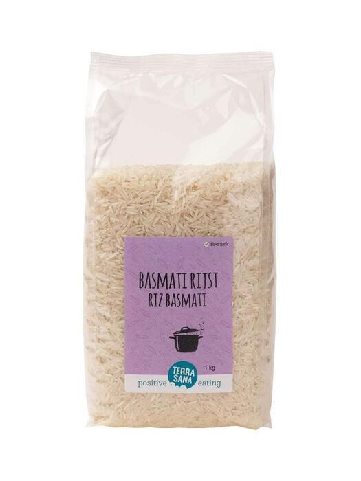 Basmati rijst wit Kilo TerraSana 1kg (1kg)