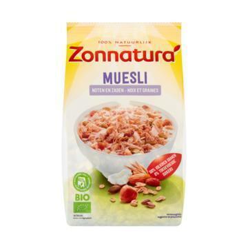 Zonnatura Muesli met noten en zaden (375g)