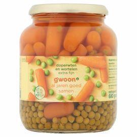 g'woon Doperwten en wortelen extra fijn (680g)