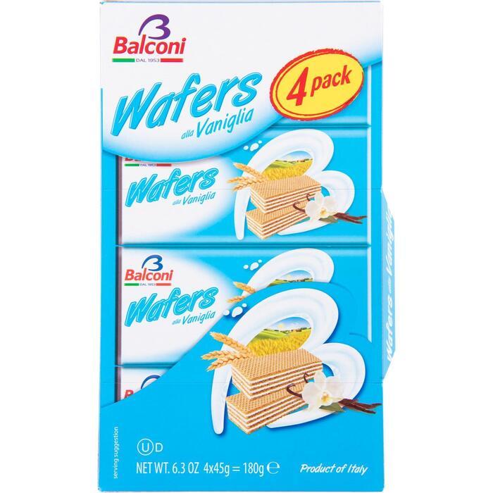 Balconi Wafers alla Vaniglia 4 x 45 g (45g)