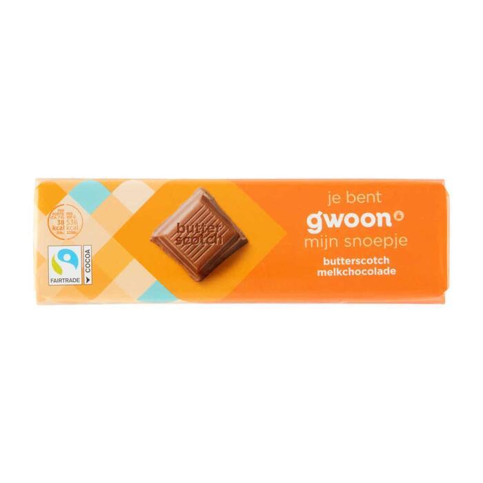 g'woon Chocoladereep butterscotch (100g)