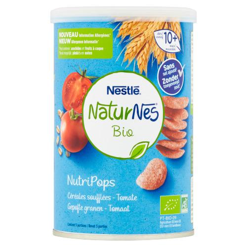 NaturNes® Bio NutriPops Gepofte Granen - Tomaat vanaf 10+ Maanden 35 g (35g)