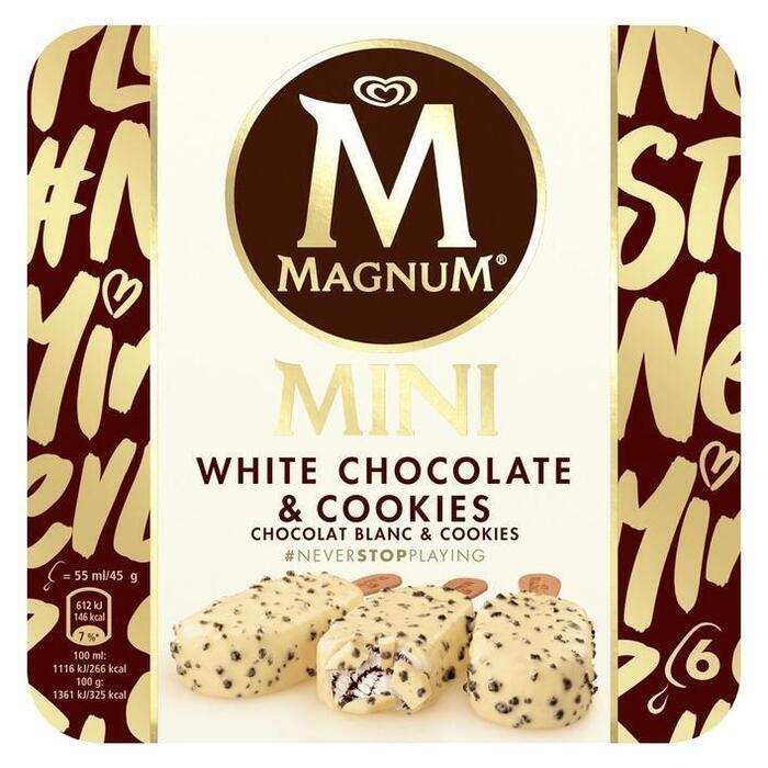 Magnum IJs mini white chocolate & cookies (6 × 33cl)