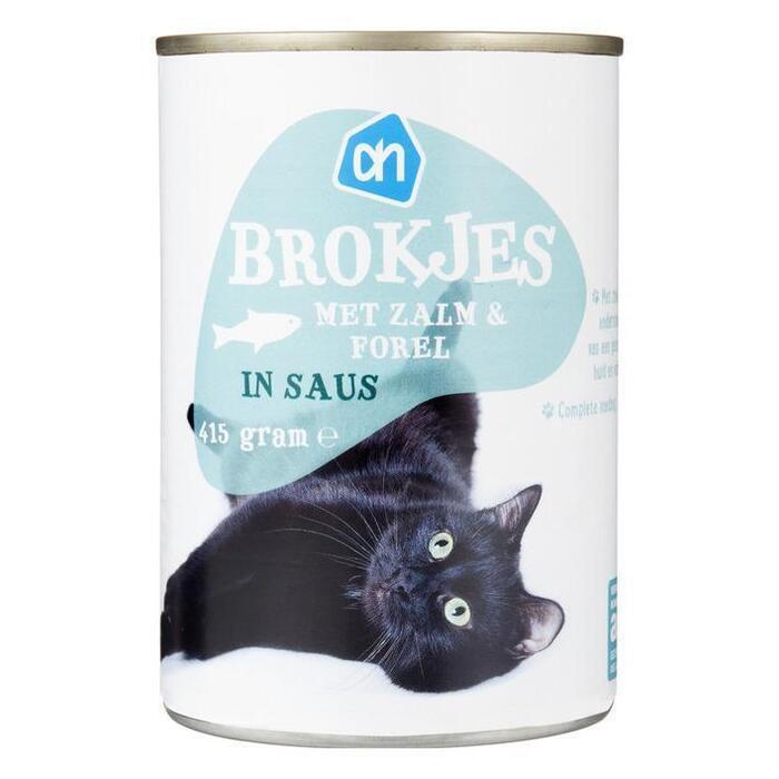 AH Brokjes zalm-forel (voor de kat) (410g)
