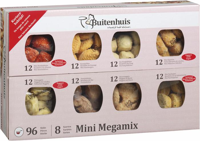 BUITENHUIS MINI MEGAMIX, 8X12 SOORTEN (96 × 20g)