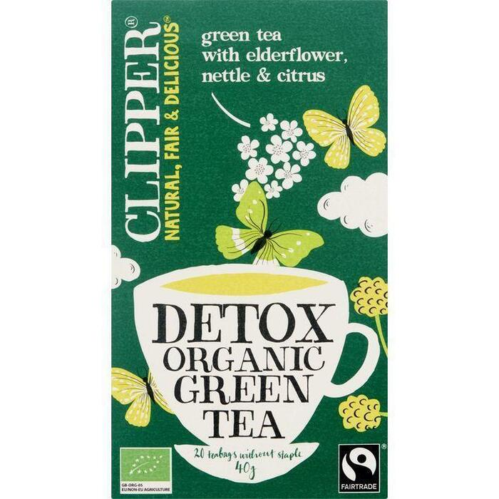 Clipper Groene detox bio (20 × 40g)