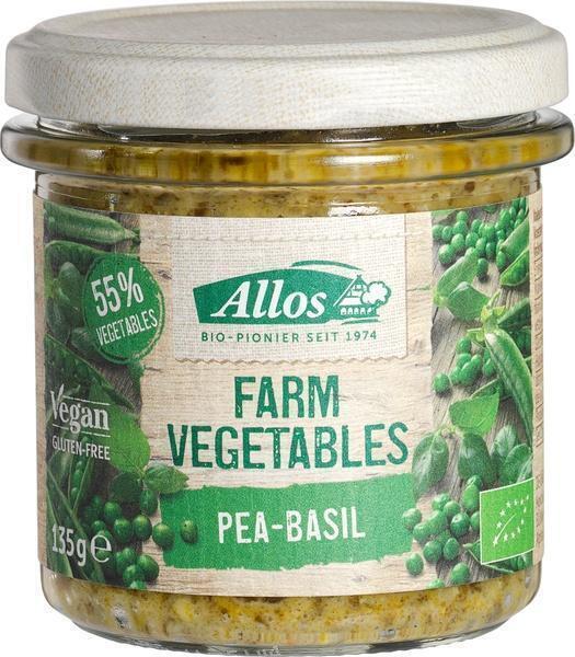Farm Vegetables erwten en basilicumspread (135g)