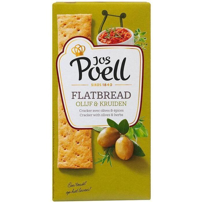 Jos Poell Flat bread Griekse olijf & feta (100g)