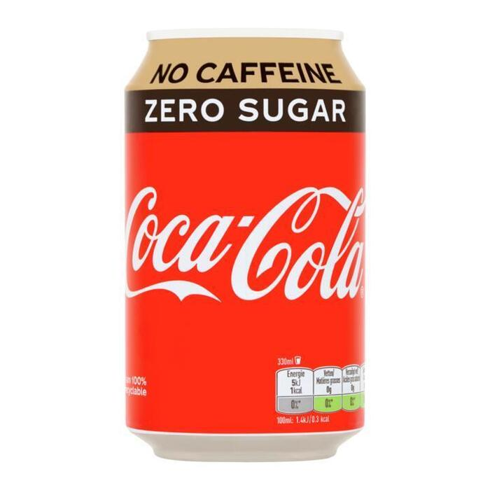 Coca-Cola Zero Caf Free Blik 0.33L 1x (33cl)