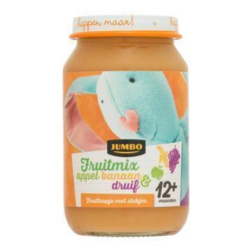 Jumbo Fruitmix Appel Banaan en Druif 12+ Maanden 200g (200g)
