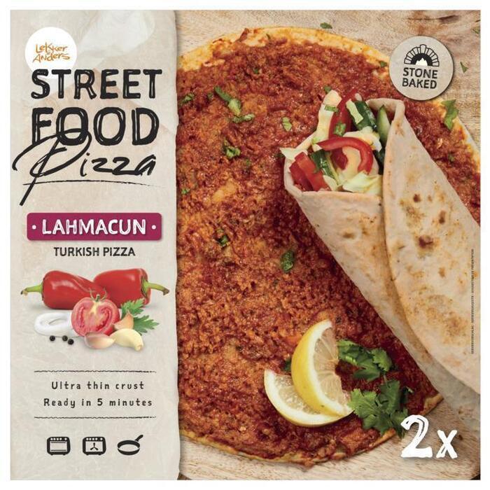 Lekker&Anders Street Food Pizza Lahmacun 2 x 180 g (2 × 180g)