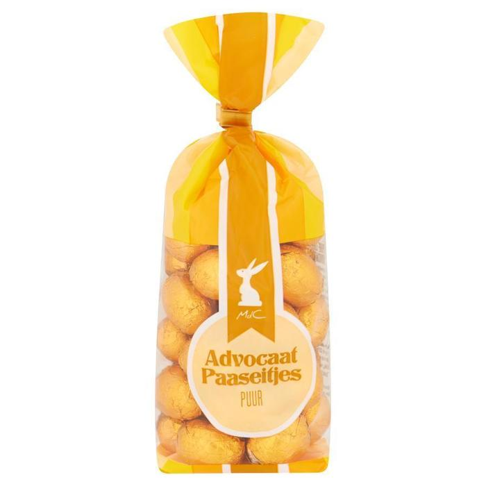 Pure chocolade eitjes met Advocaatvulling (zak, 225g)