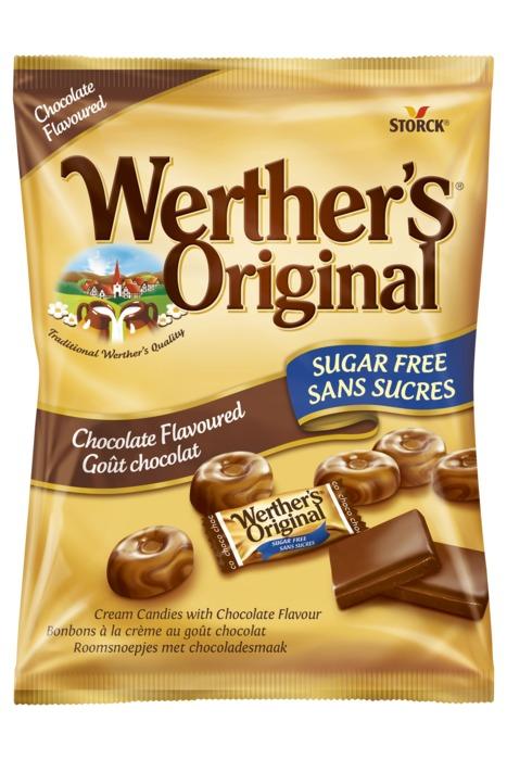 Werther's Roomsnoepjes Chocolade Suikervrij 60 g (60g)