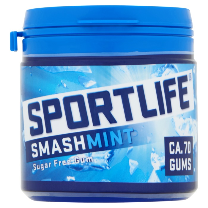 Sportlife Smashmint Suikervrij Kauwgom Pot 99g (99g)