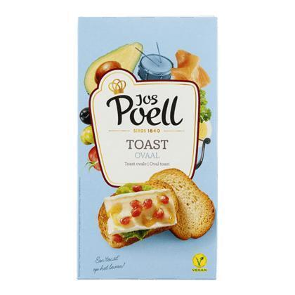 Jos Poell Ovaal toast (100g)