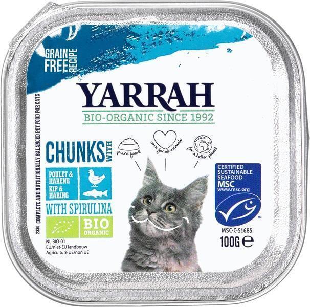 Adult cat food vis met spirulina (bakje, 100g)