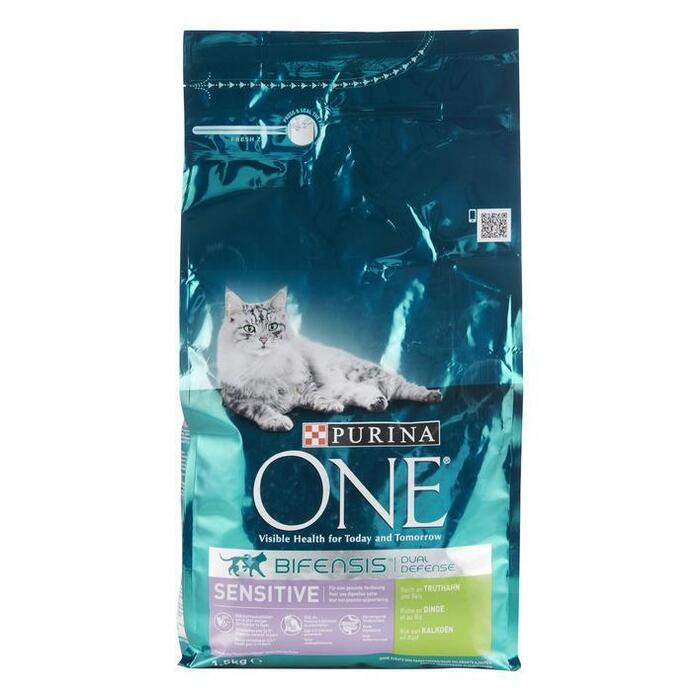Purina ONE Bifensis Dual Defense Sensitive Kalkoen en Rijst 1,5 kg (1.5kg)