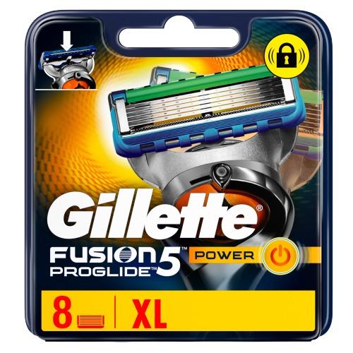 Gillette Fusion5 ProGlide Power Scheermesjes, 8 Navulmesjes