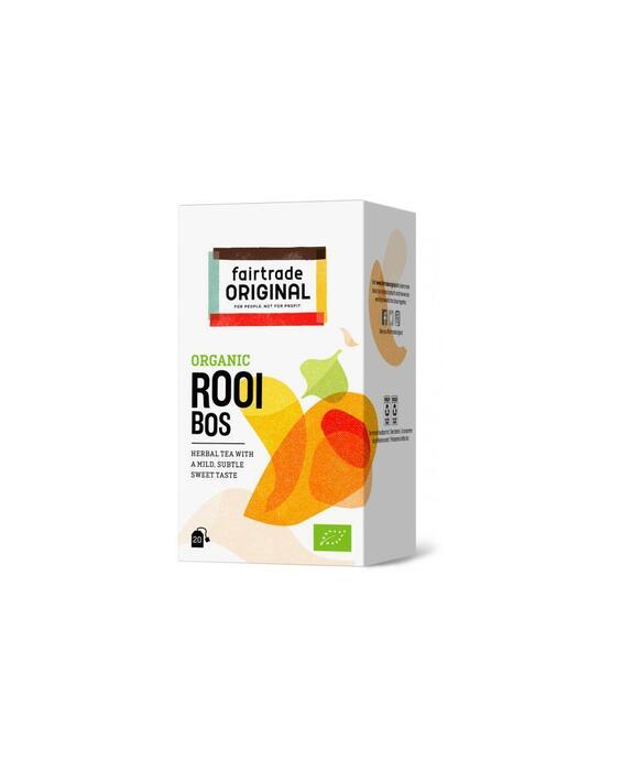 Fair Trade Original Thee Rooibos, biologisch, FT, 20x1,75grm (doos, 20 × 1.75g)