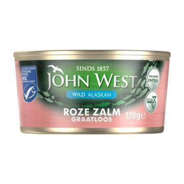 John West Wilde roze zalm zonder vel en graat MSC (170g)