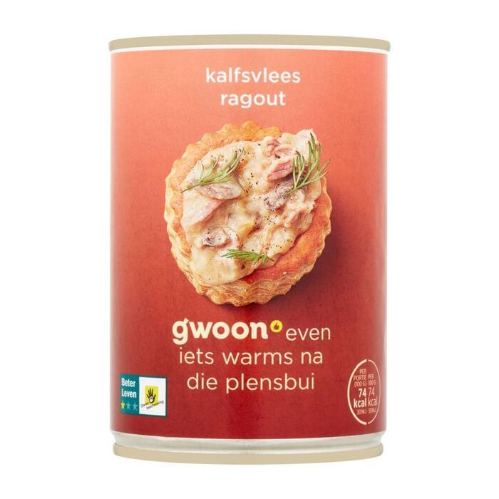 g'woon Kalfsragout (blik, 400kg)