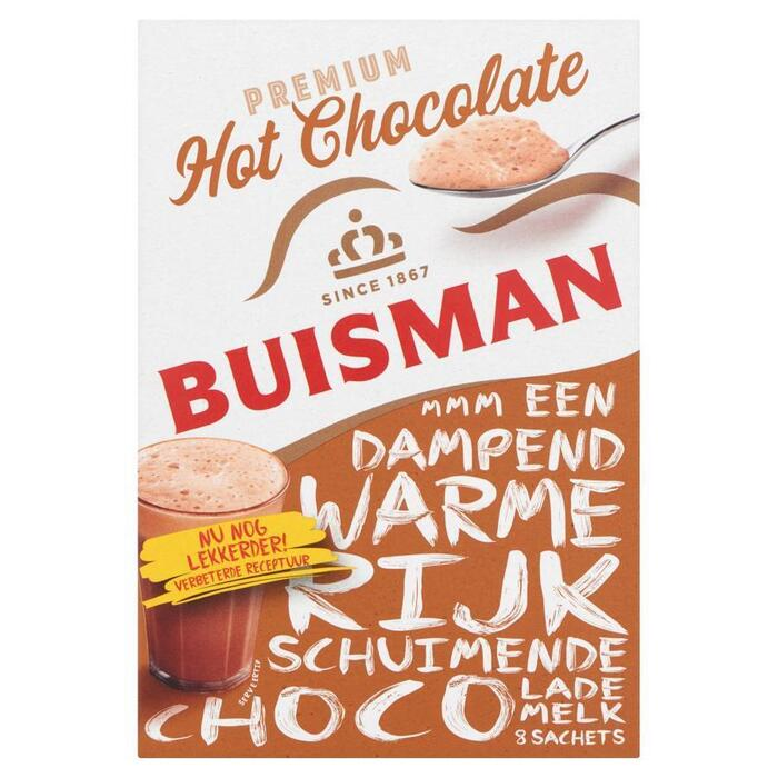 Buisman Premium Hot Chocolate Portieverpakking UTZ 8x22g (8 × 200g)