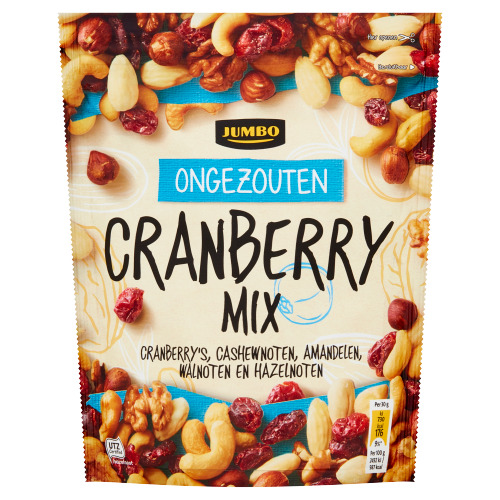 Jumbo Cranberry Mix Ongezouten 200 g (200g)