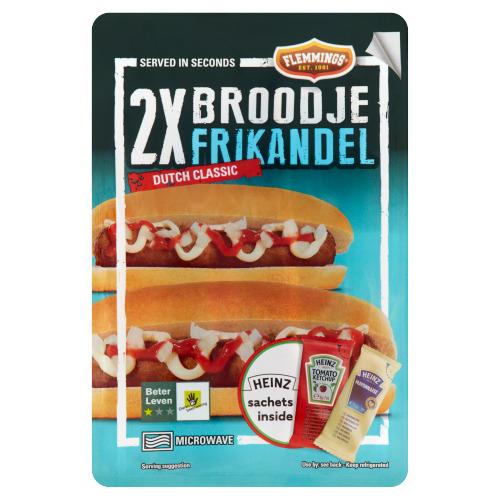 Flemmings Broodje Frikandel Dutch Classic 2 Stuks 217,5 g (218g)