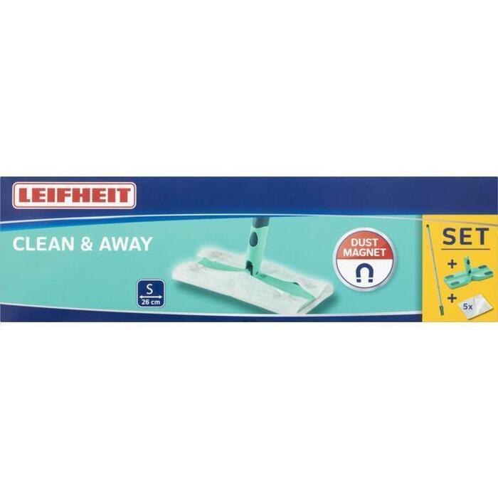 Leifheit Vloerwisser set clean&away 5 stofdoekjes