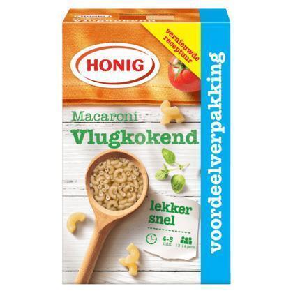 Honig Deegwaar Macaroni Vlugkokend 1000 g Doos (135g)