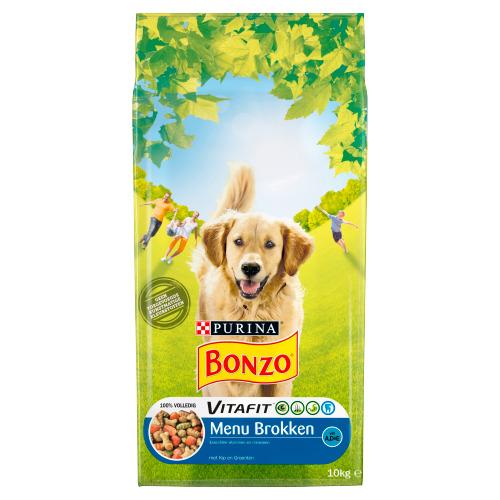 Bonzo Vitafit Menu Brokken met Kip en Groenten 10 kg (10kg)