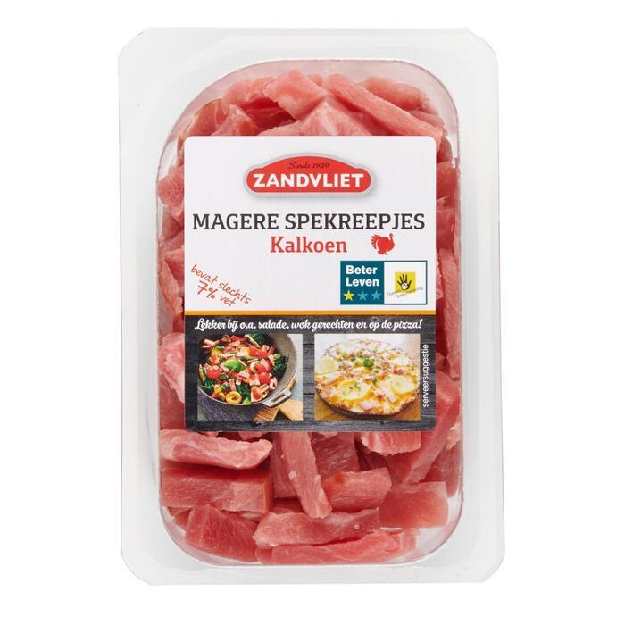Zandvliet Magere spek reepjes van kalkoen (150g)