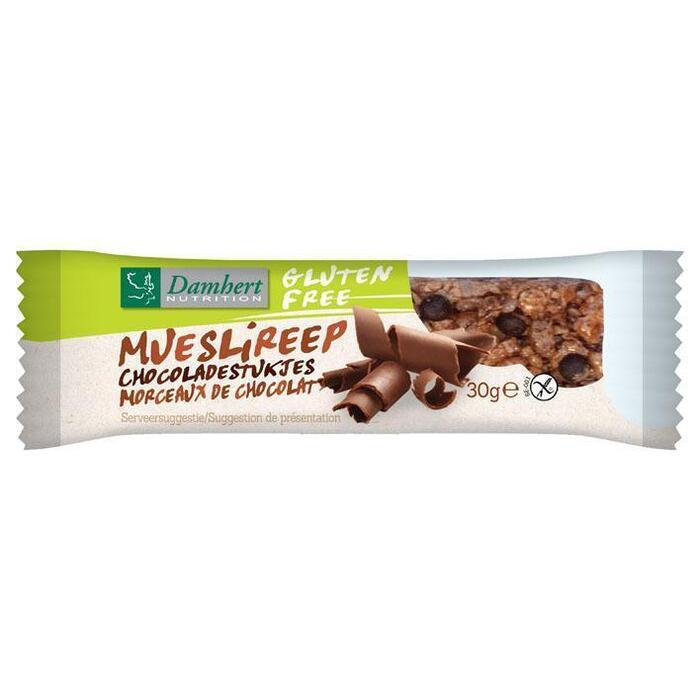 Mueslireep chocolade glutenvrij (30g)