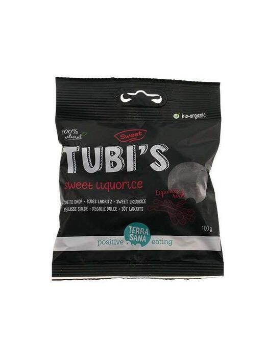 Tubi's Naturel - Zoete drop TerraSana 100g (100g)