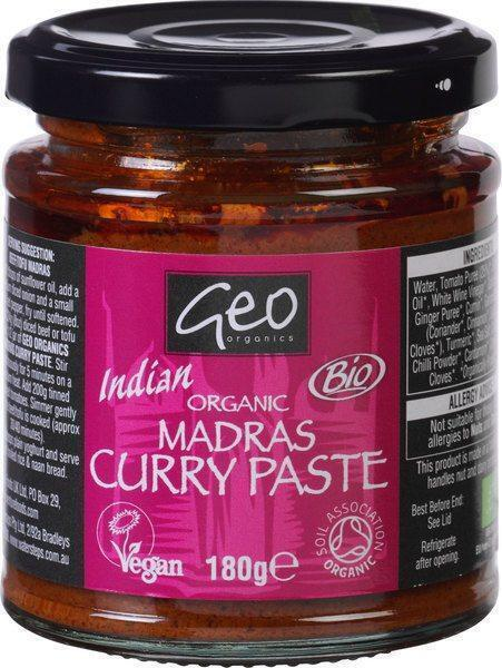 Geo Organics, Bio Madras Curry Paste (pot, 180g)