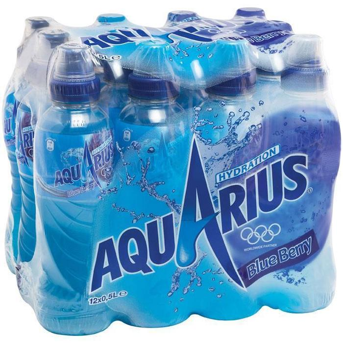 Aquarius Blue berry met sportdop (12 × 0.5L)