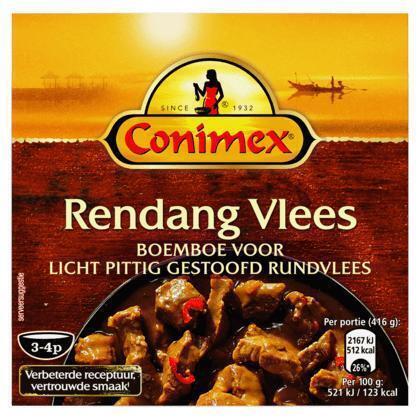 Boemboe voor Rendang Vlees (kuipje, 95g)