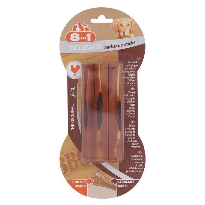 8In4 Delights barbecue sticks, 3 stuks (80g)