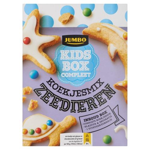 Jumbo Kids Box Compleet Koekjesmix Zeedieren 365g (365g)