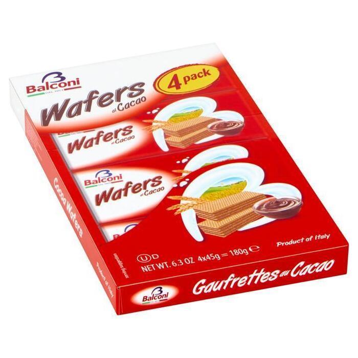 Balconi Wafers al Cacao 4 x 45 g (4 × 45g)