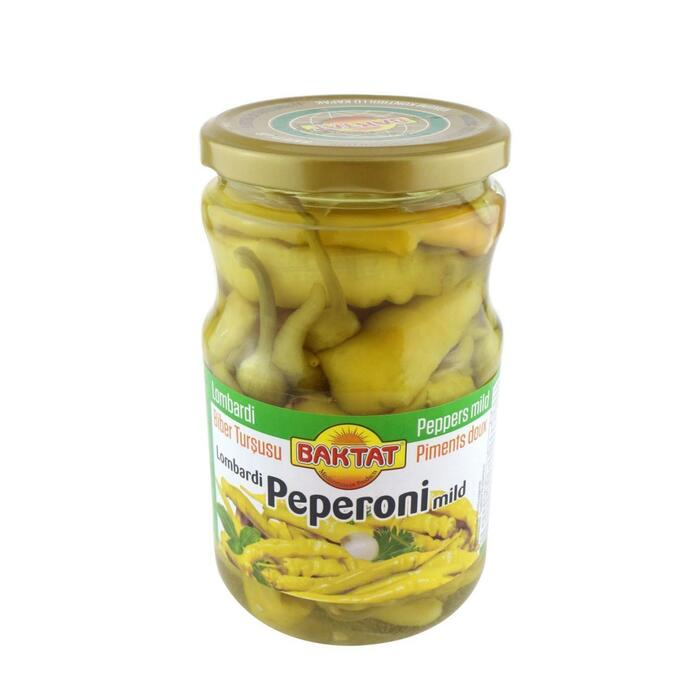 Baktat peperoni's in zuur 270 gr. (270g)