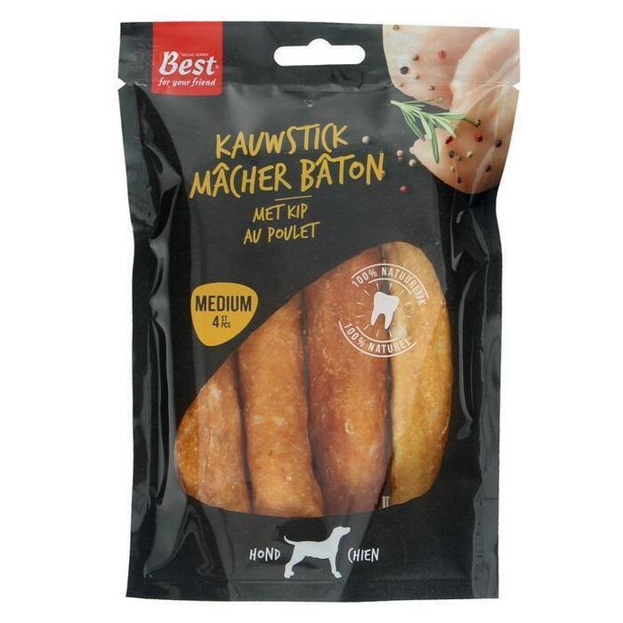 Best for Your Friend Kauwstick met Kip Medium 4 Stuks 100 g (4 × 100g)