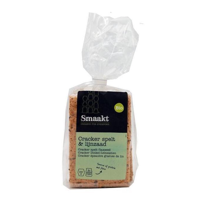 Bio Spelt Crackers met lijnzaad (zak, 200g)