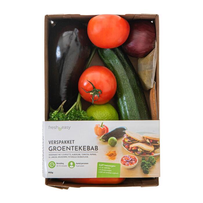 Fresh & Easy Verspakket groentekebab 952 GRM VERPAKT (952g)