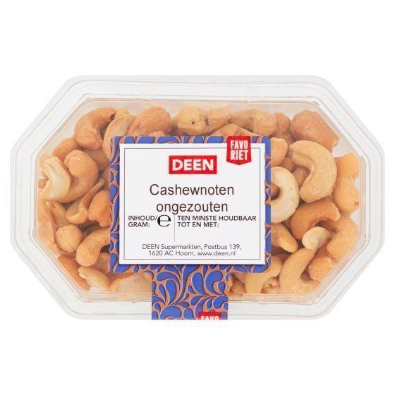 DEEN Favoriet Cashewnoten Ongezouten 170 g (170g)