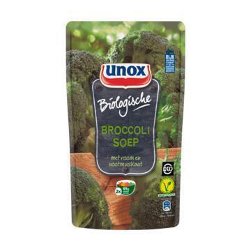 Unox Soep in zak biologische broccolisoep (0.57L)